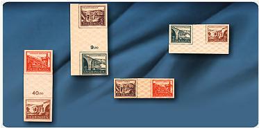 """Bild: Briefmarken """"SBZ -Thüringen"""", Mi.-Nr. WZD1-2 und SZD1-2"""