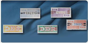 Bild: DDR Dienstmarken – »Zentraler Kurierdienst B«