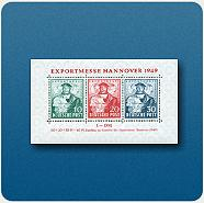 "Briefmarkenblock ""Exportmesse Hannover 1949"""