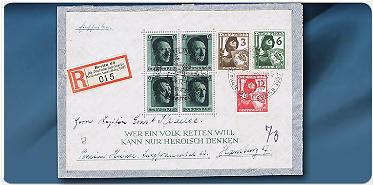 Bild: Die echtgelaufenen Briefe des Deutschen Reiches 1933–1945