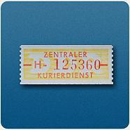 Bild: DDR Dienstmarken – Zentraler Kurierdienst