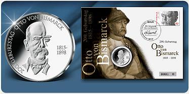 """Bild: 10-Euro-Numisbrief  """"200. Geburtstag Otto von Bismarck"""""""
