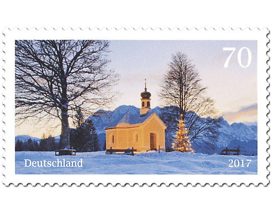 briefmarke weihnachtliche kapelle neuheit 2017