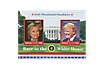 2er-Briefmarkenblock Hillary Clinton und Donald Trump